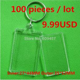 Ponto chaveiros on-line-100 pçs / lote chaveiro Acrílico transparente chaveiros quadro da foto chaveiro do ponto da cruz chaveiros chaveiros em branco DIY