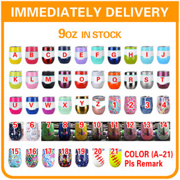 Wholesale Insulated Briefs - 9oz Egg Cup Wine glass with Lid Stainless Steel Tumbler Double Wall Vacuum Insulated Beer Mugs Rose Gold Blue Thermos