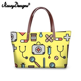 2019 подарочные сумки оптом Noisydesigns Women Tote Bags Nurse Pattern Large Handbags for Female  Shopping Bag Youth Girls Casual Bolsa Drop Shipping