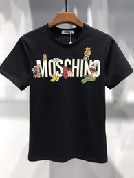 Wholesale el panel flashing - 2018 moskino. High quality %100 pure cotton T-shirt black and white.