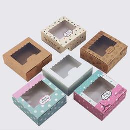 Caixa nova dos bolos do favor on-line-Mini caixas novas das cookies de Kraft com as caixas do favor das caixas da torta do bolo da janela para o convidado QW8464 do partido