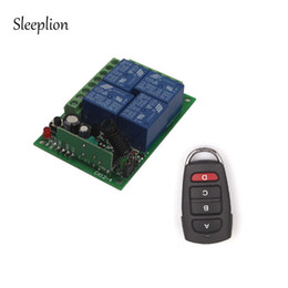 Wholesale Receiver Transceiver - Sleeplion 12V Remote 4CH Channel RF Wireless Remote Control Relay Switch 2 Transceiver+Receiver for Door Lamp Light Gate Opener