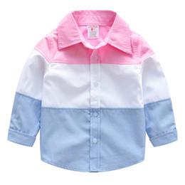 Maglietta di plaid dei bambini della camicia di colore di colpo a maniche lunghe della camicia dei bambini della camicia di estate del cotone di estate dei vestiti di INS dei boutique INS H034 da bei modelli neri fornitori