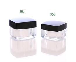 Scatole quadrate acriliche online-50pcs / lot trasporto veloce 30g 50g quadrato crema acrilica barattolo vuoto bottiglia di imballaggio 30 ml 50 ml crema box