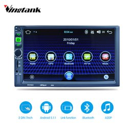 Wholesale Car Mp5 - Car radio Bluetooth GPS Navigation 1080P Car Stereo MP3 MP5 Player Support FM GPS Receiver WIFI Rear Camera Android 5.1
