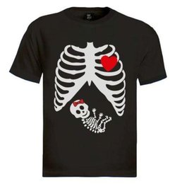 9bf4d8a0fc467 pregnant baby shirts NZ - Pregnant Skeleton baby GIRL T-Shirt gothic  maternity Halloween x