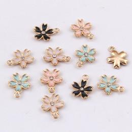 16 * 14mm mode diy emaille blume charme, floral anhänger metall baumelt legierung armband ohrringe zubehör großhandel schmuck machen koreanisch von Fabrikanten