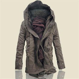 cotton tang jacket Promo Codes - Tang cool 2018 Fashion winter warm Korean men parka coat men's hooded jacket coats casual thick cotton padded parkas 6XL