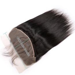 reine brasilianische große tiefe welle Rabatt Spitze Frontal Closure 13 x 6 gerade Textur brasilianischen Pre mit Babyhaar natürlichen Haaransatz frei Mitte links drei Teil gezupft