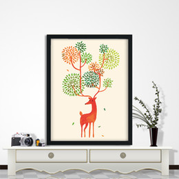 Wholesale Mirrors Wallpaper - Scandinavian Home Decor Christmas Decorations Beautiful deer wallpaper Home Decor Home and Garden