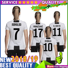 3a77b69e1 AAA Thait quality woman Ronaldo soccer jersey 18 19 JuventusING BUFFON  DYBALA HIGUAIN D. COSTA Ronaldo  7 football shirts buffon jerseys for sale