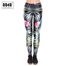Wholesale wholesale clothing sexy dance - 8848 Women Clothing Ladies Leggings Flower s 3D Graphic Printing Legging Sexy Slim Elasticity Pants Legging for Dancing D183
