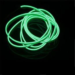 Wholesale Neon Lights Decorating - 1Meters AUTO interior refit light clamping-edge EL Wire Flexible Neon Car Decorate With 12V Cigarette lighter inverter