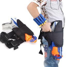Wholesale Bullet For Toy Gun - Bandolier for Nerf N-strike Elite Series Adjustable Soft Bullet Leg Bag Dart Ammo Storage Leg Pouch Bag - Black