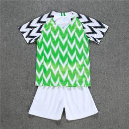 Wholesale soccer sports jerseys - 2018 New World Cup Kids Kit Soccer Jersey home 9 Starboy Sports shirt Okechukwu Dayo Ojo Osas Okoro Child national team Football uniform