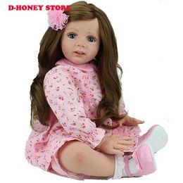 2019 livre reborn baby dolls silicone 60 cm boneca Reborn silicone reborn bebês menina bonecas para crianças cabelos longos benecas renascer frete grátis livre reborn baby dolls silicone barato