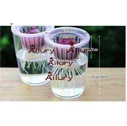 Frete grátis, 2 conjunto, Hyacinth lâmpadas vasos de flores especiais rabanete verde transparente resina de plástico sala de água decoração criativa de