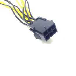 Tarjeta de video vga online-Marsnaska 6 pines PCI Express a 2 x PCIe 8 (6 + 2) pin Tarjeta gráfica Tarjeta de video PCI-e GPU VGA Splitter Hub Cable de alimentación