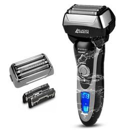 Canada Rasoir électrique rechargeable de 4 lames du professionnel 110v / 220v pour la machine de rasage de visage de barbe électrique de wetdry 3D cheap 3d men razor electric shaver Offre