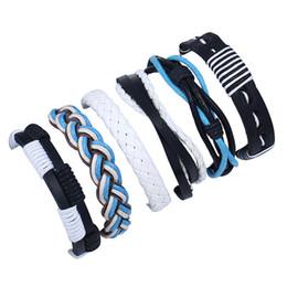 CHAOMO Vintage Woven Leder Set Armband Handgemachten Schmuck DIY Schnur Glück Zubehör Paar Persönlichkeit Geschenke von Fabrikanten