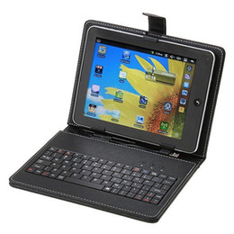 Wholesale Micro Usb Slim - Universal for All 8 inch Tablet PC Micro USB English 8 inch keyboard case PU Leather Cover slim keyboard case wholesale