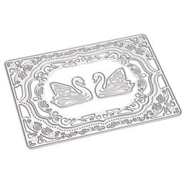 Wholesale Craft Card Designs - 1 Set Swan Design Cutting Dies Stencils for DIY Scrapbooking Decorative Craft Album Embossing DIY Handmade Metal Paper Cards