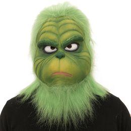 Vert Monstre Grinch Drift Masque Partie Fournitures pour Costumes De Noël Accessoire Cosplay coiffures Masques Faciaux accessoires drôles pour la performance ? partir de fabricateur