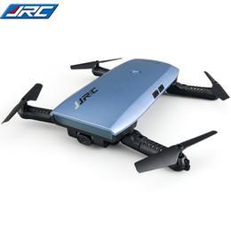 мини-камера wifi drone Скидка JJRC H47 ELFIE Plus Mini Selfie Drone с камерой HD 720P WIFI FPV Датчик силы тяжести Высота хранения складной квадрокоптер против H37 Mini