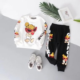 Wholesale Clothes Characters Baby - Baby Boy and girl Clothes Brand new 2018 spring latest style high quality O-Neck full Sleeve kids tops Children boys clothing set