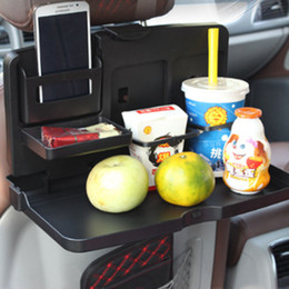 Wholesale Dining Car - black Car computer tables folding stand back dining table plate beverage rack car computer tables LJJM31