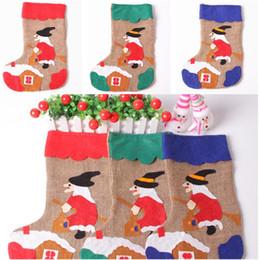 Venta caliente Santa Claus Decoración de Navidad Árbol de Navidad Adornos  Colgantes Colgante Niños Mejor Regalo calcetines calcetines de Navidad  T5I084 e662cadc0c83a