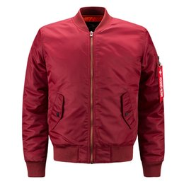 75322e545b6e Wholesale 2018 Pocket Decoration Face Jackets Men Rib Bottom Pendulum  Design MA1 Pilot Jackets Leisure Mens Designer Jackets