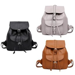 ecfc50b23d90 Women Casual PU Leather Backpack Preppy Chic Backpack Drawstring Travel  Shcool Bag For Teenage Girls Small Backpacks New