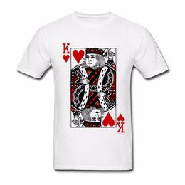 Homens tamanho king vestuário on-line-Rei dos corações Dia Dos Namorados T Shirt Camiseta Masculina Roupas de Algodão Tamanho Grande de Manga Curta Custom USSR T Camisas men