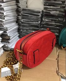 Wholesale leather heart shaped handbag - new 2018 Marmont shoulder bags women luxury brand Suede Velvet chain crossbody bag handbags famous designer purse high quality female bag