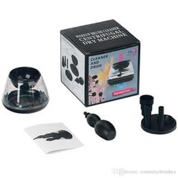 Wholesale Electronic Makeup - Mybasy Brush Cleaner Machine Makeup 2pcs AAA Battery Automatic Spinning Electronic Makeup Brush Cleaner and Dryer