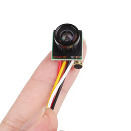 Wholesale Cctv Small Camera - Hot Sale Mini Camera CCTV 120 Degree Wide Angle Lens Small FPV Camera 600TVL Color Mini Micro PAL NTSC