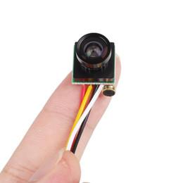 Wholesale smallest hd cctv camera - Hot Sale Mini Camera CCTV 120 Degree Wide Angle Lens Small FPV Camera 600TVL Color Mini Micro PAL NTSC
