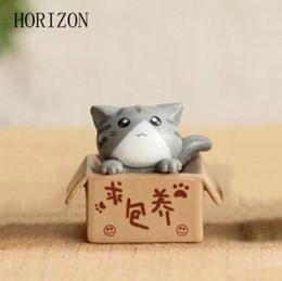 2019 miniature fantasy Fantasy Fairy Garden Decoration Artigianato Home Decor Moda Cute Cartoon Cat Micro Paesaggio Figurine in miniatura sconti miniature fantasy