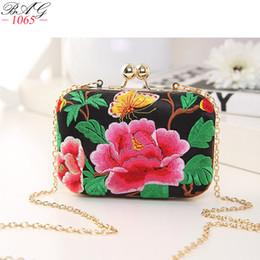 bolsa china china Rebajas Mini bolso de la manera para las mujeres del estilo nacional chino nueva mujer bordada flor banquete bolsa cuadrada cadena hombro hombro Crossbody bolsos