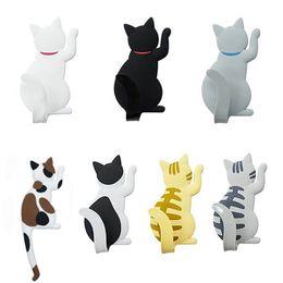 7 unids / set Gato de Dibujos Animados Imán de Nevera Gancho Multifuncional Etiqueta Engomada Del Refrigerador Creativo Ganchos Para La Luz Gadget Decoraciones Para El Hogar desde fabricantes