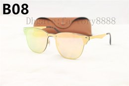 Wholesale Blue Sight - High Quailty Newest Hot sale Unisex 3576 Sunglasses Men 2018 Brand Rivets Metal Design Mirror Sunglasses Women Eyewear UV400 With Box,Case