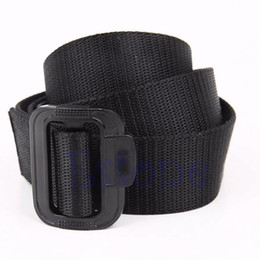 Wholesale mens military canvas belts - 1Pc Canvas Military Belt Roller Buckle Mens Accs Nylon Tactical Belt Adjustable