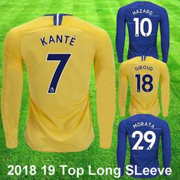 18 19 Chelsea FC HAZARD KANTE Camiseta de fútbol de manga larga GIROUD  WILLIAN KAVOCIC Camiseta de fútbol 2018 2019 Kit de fútbol de alta calidad  de color ... b51b64ce324ef