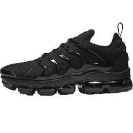Wholesale hard coolers - Vapormax Plus TN Olive Men's Running Shoes Sports For Women Sneakers Vapor Trainers White Silver Cool Grey For Male Shoe Triple Black