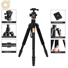 Video caricato online-QZSD Q999 62.2 pollici fotocamera video treppiede monopiede per macchina fotografica reflex con piastra a sgancio rapido cuscinetto cuscinetto 18kg dhl per muschio paese