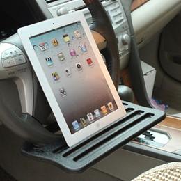 2019 plateau de voiture Plateau pour tablette au volant, plateau équipé d'un volant, table de voiture pour la nourriture ou un ordinateur portable, petit bureau d'ordinateur pour les travaux promotion plateau de voiture