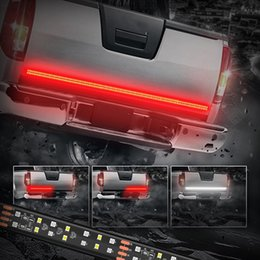Wholesale Led Running Lights Inch - 60 Inch 2-Row LED Truck Tailgate Light Bar Strip Red White Reverse Stop Turn Signal Running for SUV RV Trailer