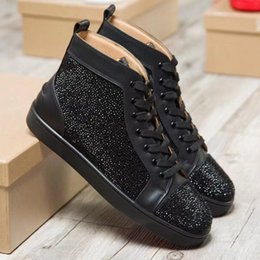 Wholesale Gentleman Shoes - style mens womens high top green suede bottom casual shoes,fashion gentleman designer lace-up sneakers