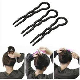 Макияж палочка для волос онлайн-6шт/набор профессиональный волос стайлинг Twist клип стик Бун чайник Кос инструмент волос клип заколки для макияжа инструменты аксессуары для волос
